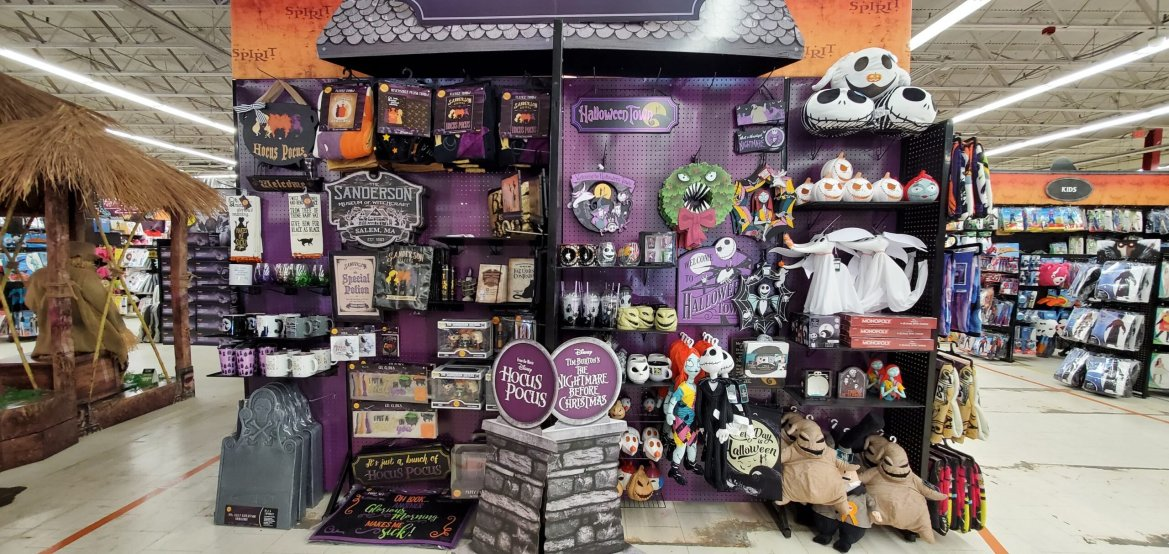 New Hocus Pocus & Nightmare before Christmas Merch now available at Spirit Halloween