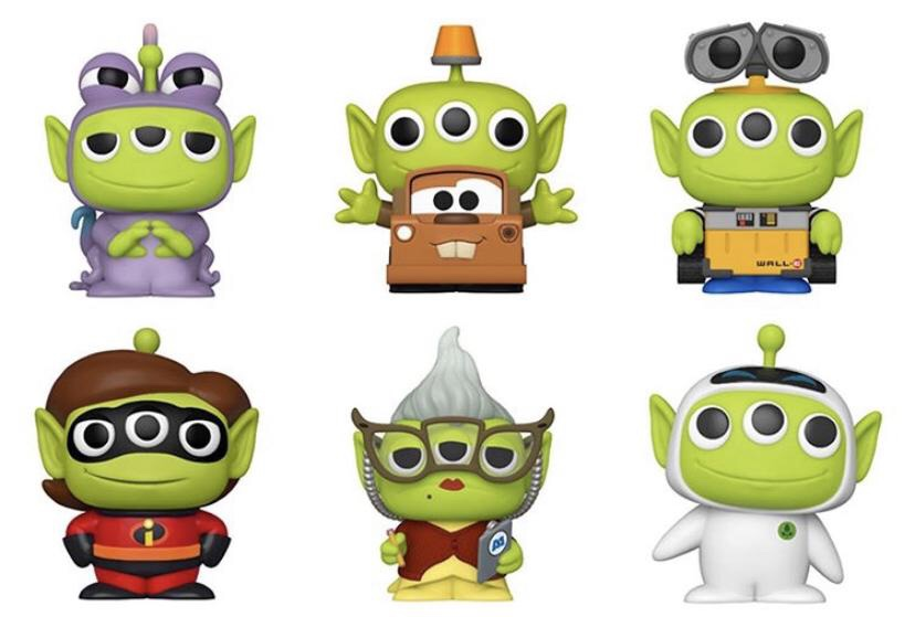 More of Pixar's Alien Remix Funko Pops on the way!