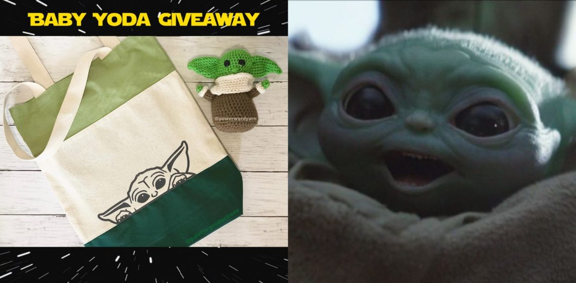 "Enter Now for our ""Baby Yoda"" Giveaway on Instagram!"