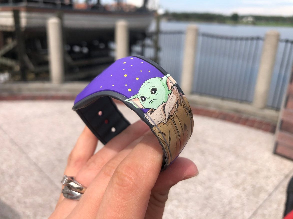Limited Edition Retro Baby Yoda Magicband Found at Disney Springs