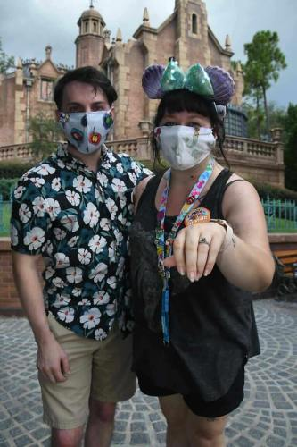Guest Proposes in Front of 'The Haunted Mansion' During First Visit to Walt Disney World 4
