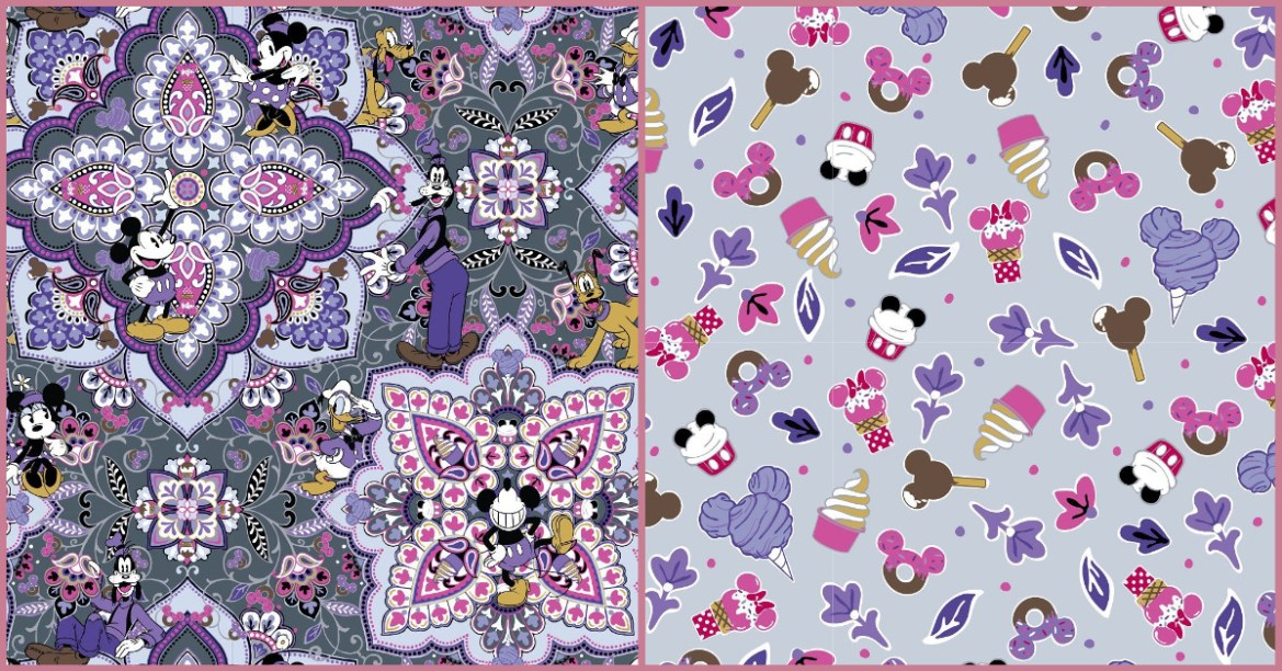 Sweet New Vera Bradley Disney Snacks Prints Debuting Today