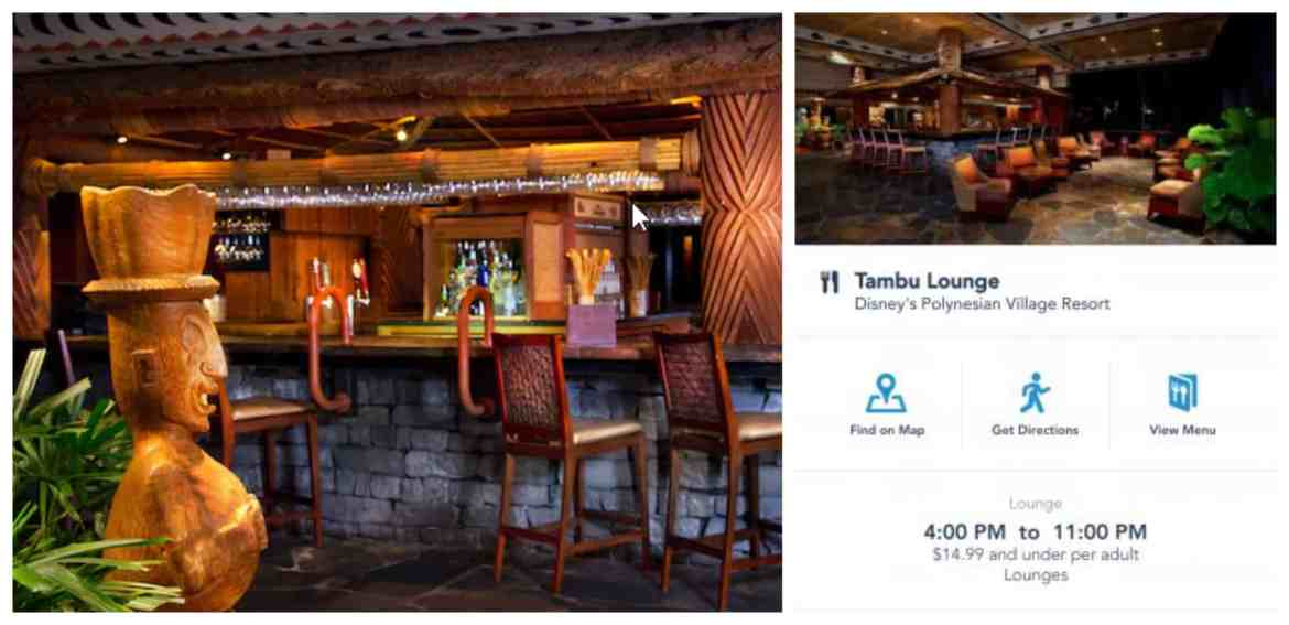 Tambu Lounge Officially Reopens at Disney World's Polynesian Resort