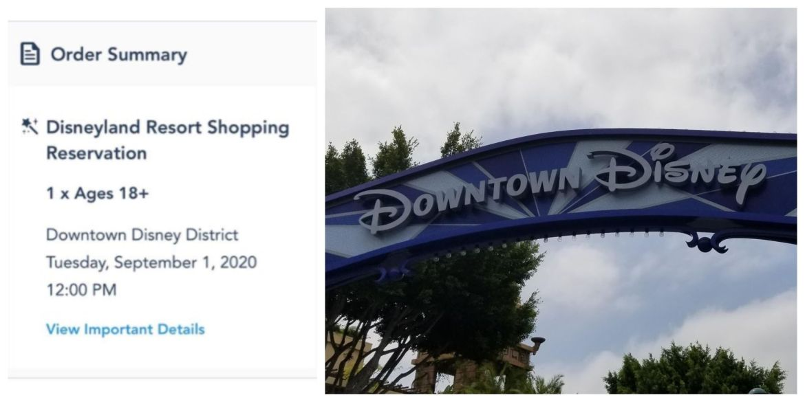 Disneyland Resort Shopping Reservations Now Available