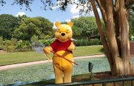 Winnie The Pooh Bear Greets Guests At Epcot!