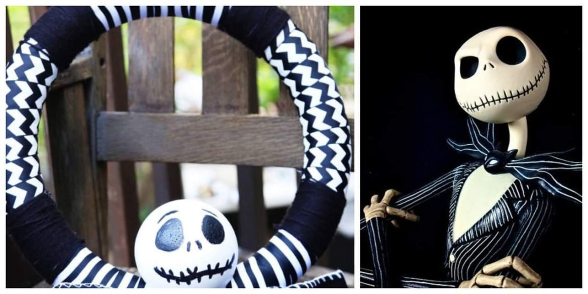 Disney DIY Jack Skellington Wreath!