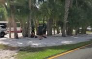Heavy Police Presence Outside Magic Kingdom Main Gate