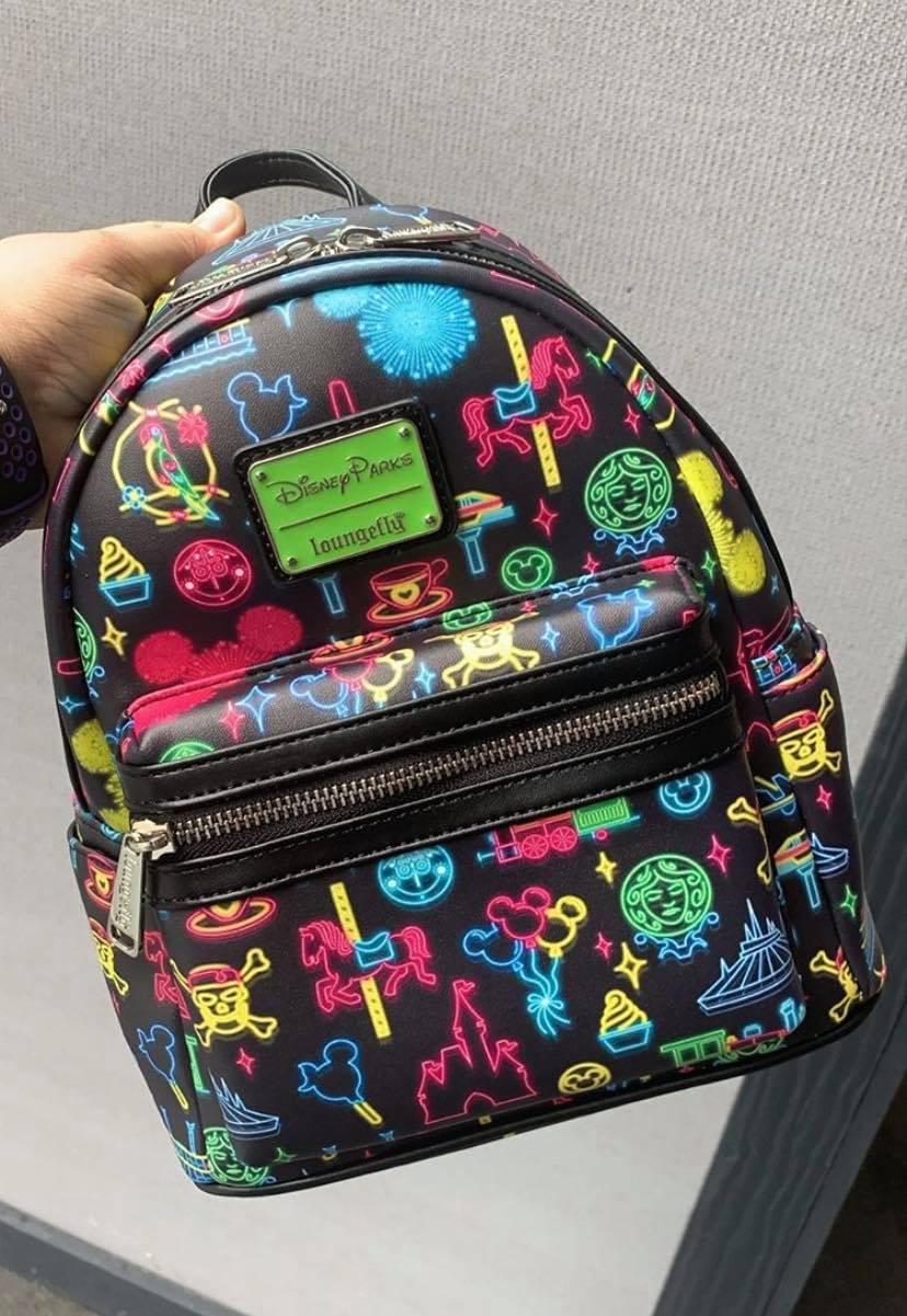 Disney Parks Neon Loungefly Backpack Has Electrifying Style