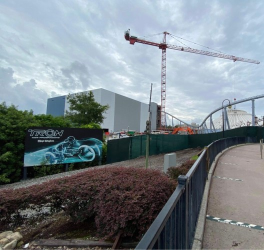 Tron construction update from the Magic Kingdom 2