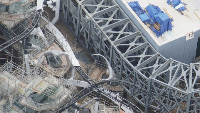Unnamed Universal Orlando Jurassic Park Coaster Construction