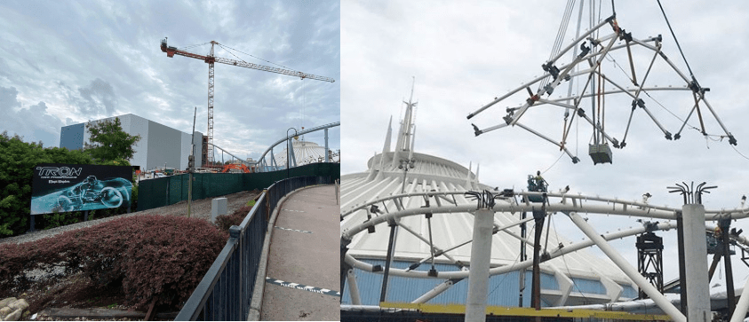 Tron construction update from the Magic Kingdom