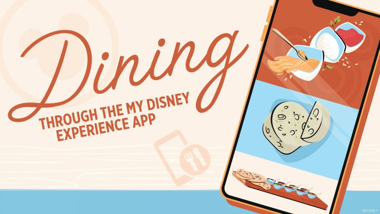 New dining options coming to the My Disney Experience app