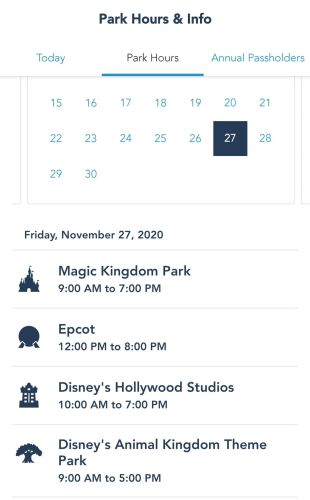 Epcot to begin opening at noon starting at the end of November 3