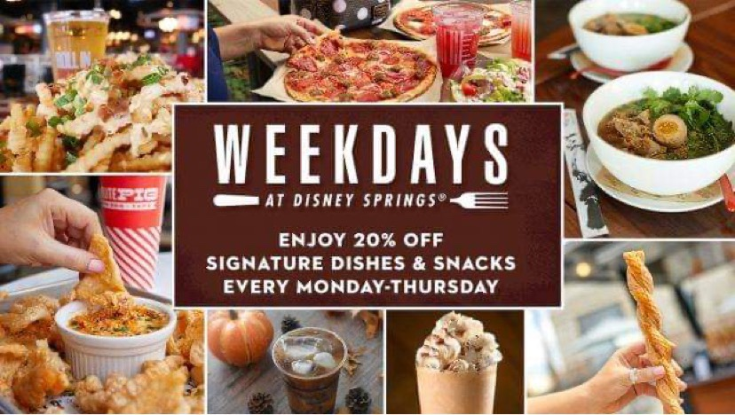 Special Dining Offers For WeekDays At Disney Springs!