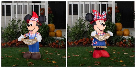 New Thanksgiving Themed Mickey and Minnie Inflatables Now Available at The Home Depot