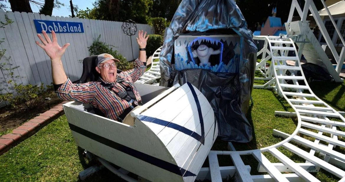 "Grandfather Builds His Own ""Disneyland"" in His Back Yard"