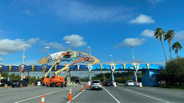Construction continues on the Toll Plaza in the Magic Kingdom 2