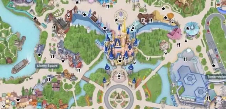 My Disney Experience Magic Kingdom digital map gets a few new updates