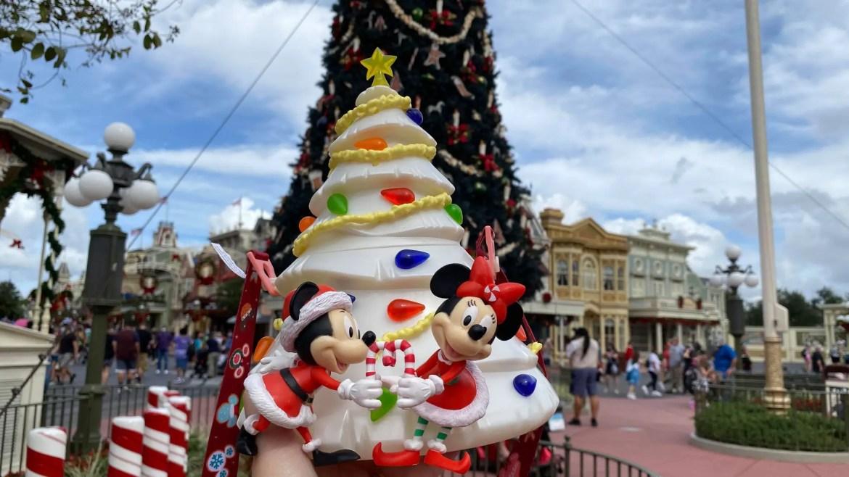 All new Mickey Christmas Tree Popcorn Bucket at the Magic Kingdom