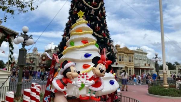 All new Christmas Tree Popcorn Bucket at the Magic Kingdom