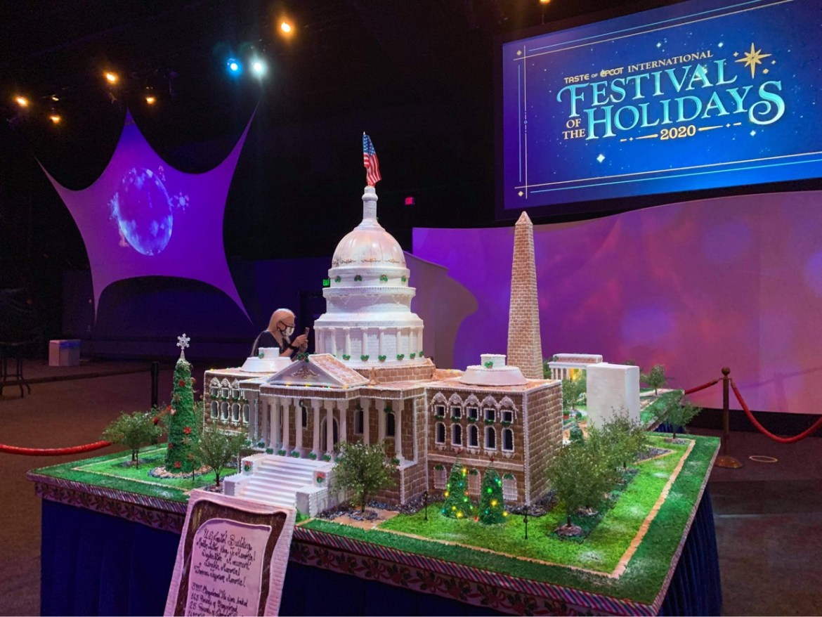 Gingerbread US Capitol on display in Epcot