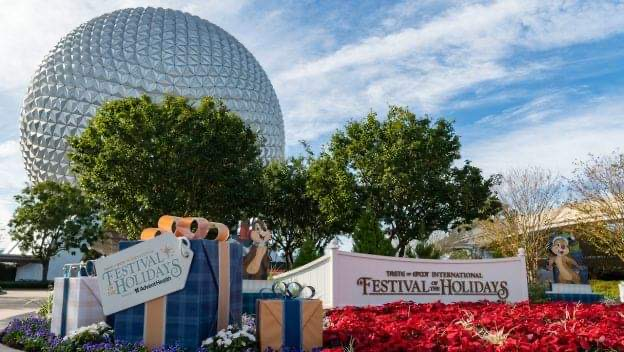 Celebrate Festival of the Holidays at Epcot now through Dec 31st