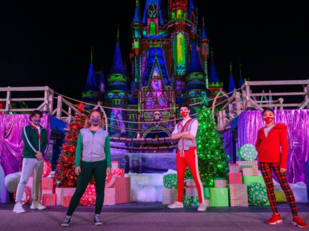 Stage in front of Cinderella Castle was part of Disney Channel Holiday Special
