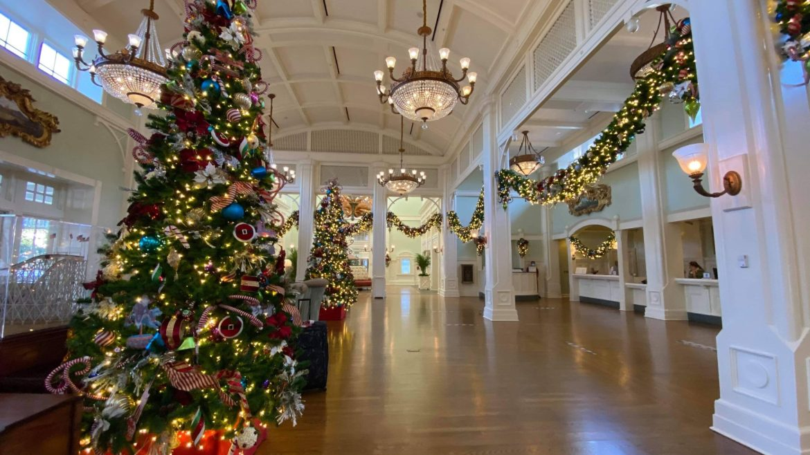 Holiday Decorations Now On Display Inside And Out At Disney's Boardwalk Resort