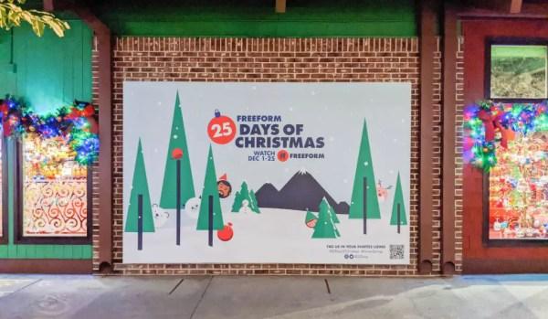 freeform 25 days of christmas photo wall