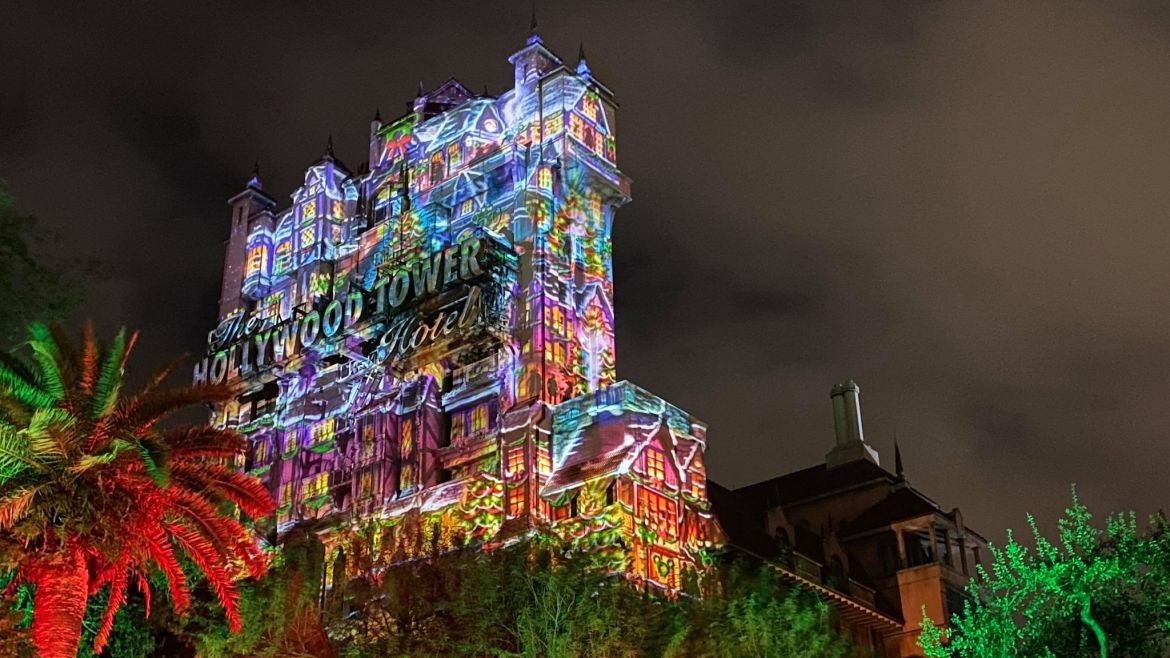 New Holiday Hollywood Tower Projection Show Debuts