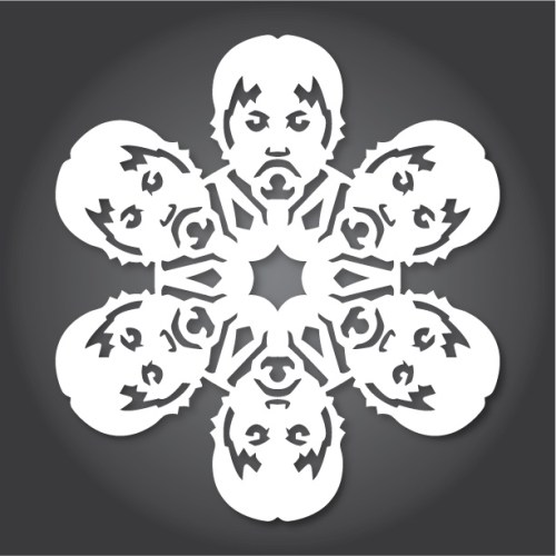 Make your own Star Wars Paper Snowflakes 12