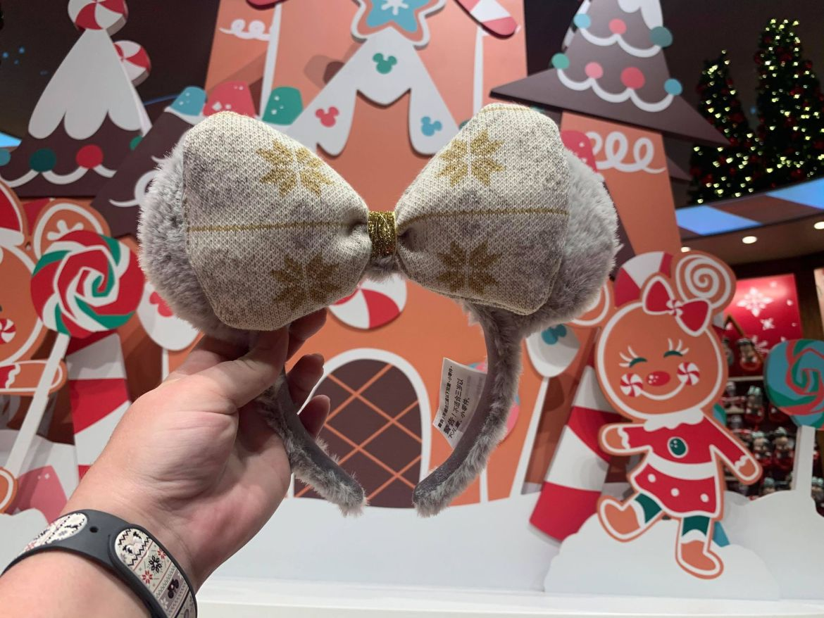 Sparkling Sweater Minnie Ears Shimmer For The Holidays