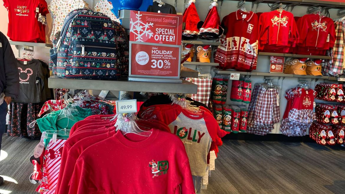 Disney World offering 30% off Holiday Merchandise