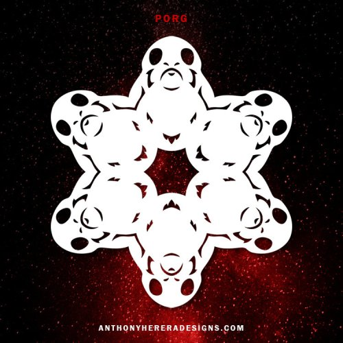 Make your own Star Wars Paper Snowflakes 14