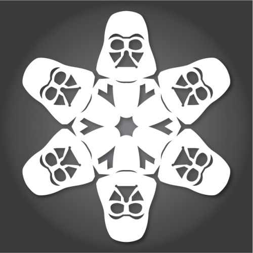 Make your own Star Wars Paper Snowflakes 5