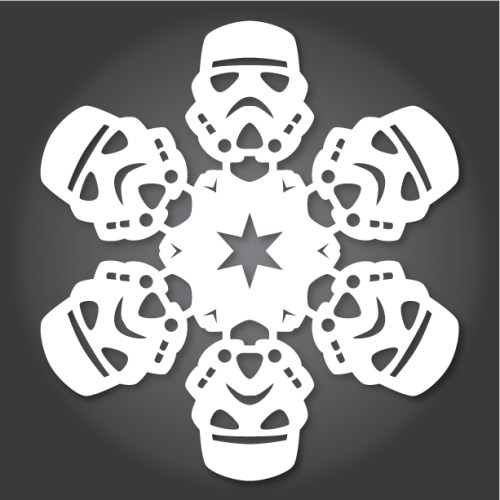 Make your own Star Wars Paper Snowflakes 7