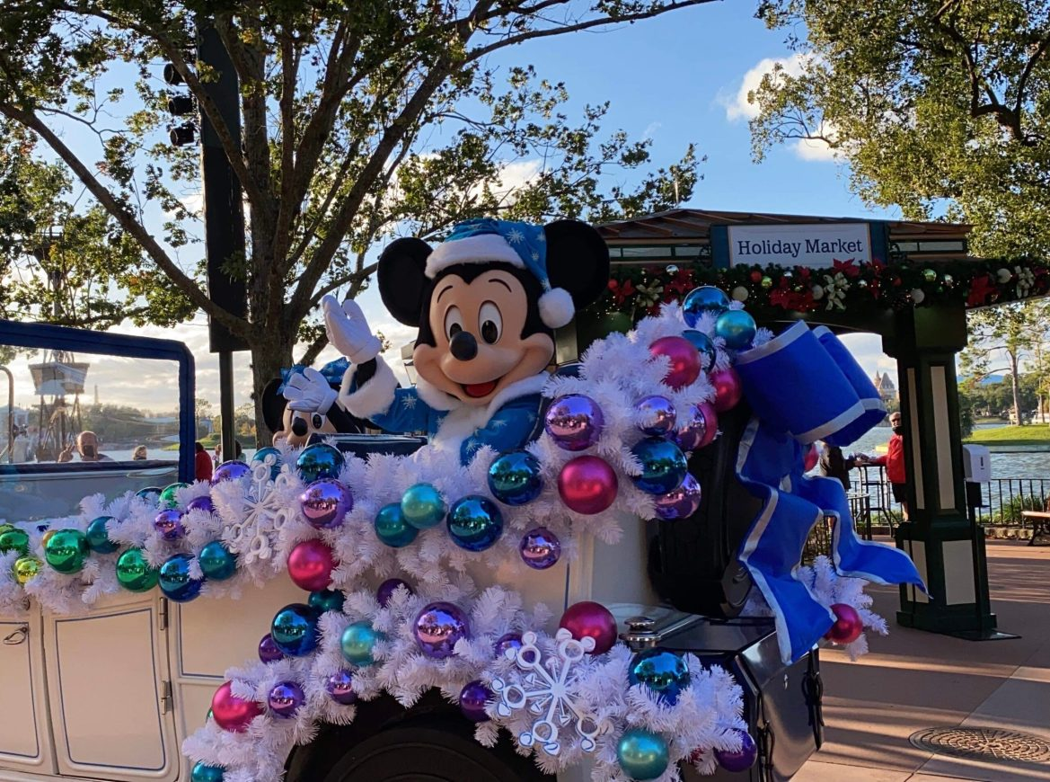 Mickey and Friends Christmas Cavalcade in Epcot