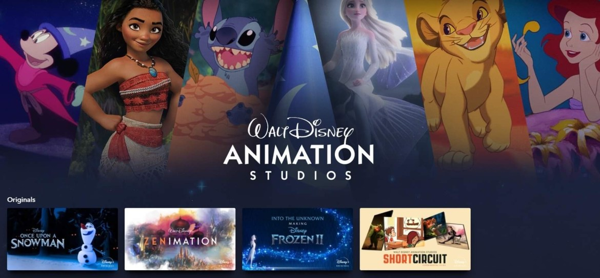 Walt Disney Animation Studios Collection Now on Disney+