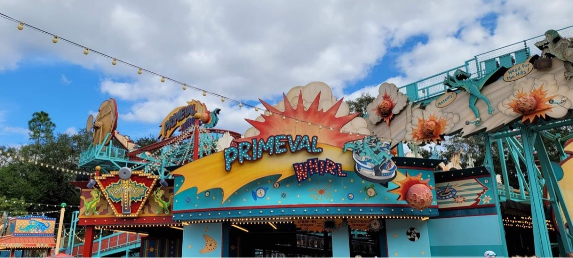 Primeval Whirl Ride Vehicles spotted leaving Disney's Animal Kingdom