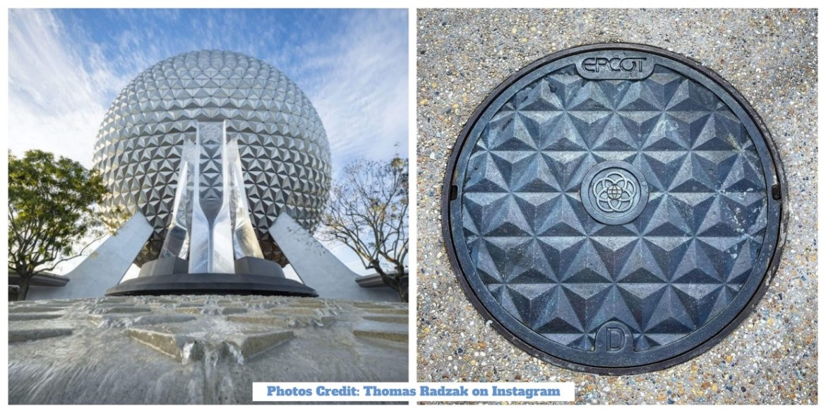 New Spaceship Earth Manhole Cover Added in Epcot