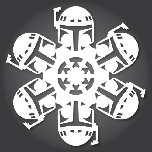 Make your own Star Wars Paper Snowflakes 6