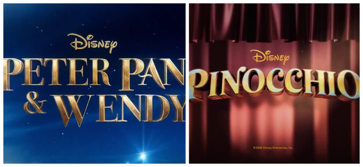 Live Action Pinocchio and Peter Pan & Wendy Going Straight to Disney+