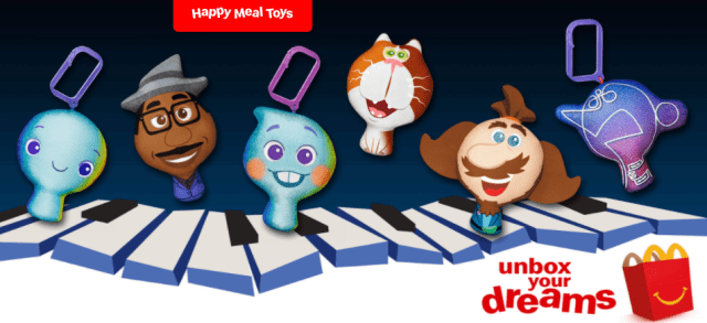 Soul Happy Meal Toys