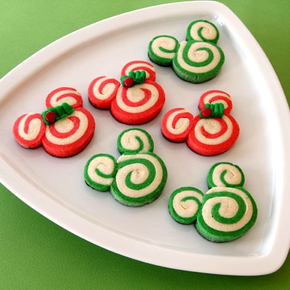 Mickey & Minnie Peppermint Swirl Cookie Recipe!