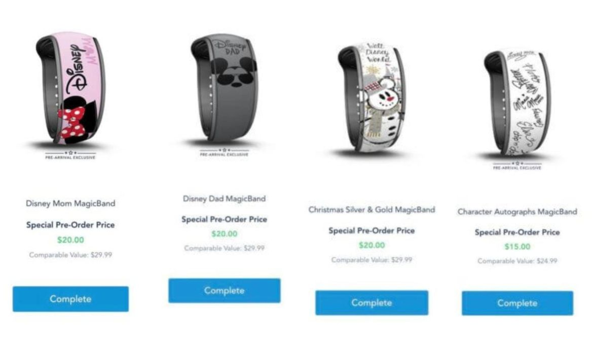 New Prearrival Magic Bands now available on My Disney Experience