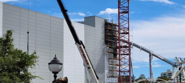 Tron Lightcycle Run Construction Update 2