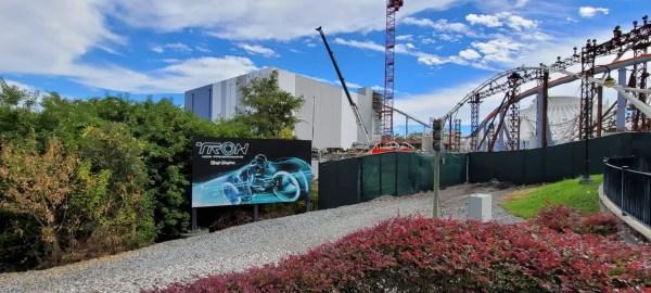 Tron Lightcycle Run Construction Update 1