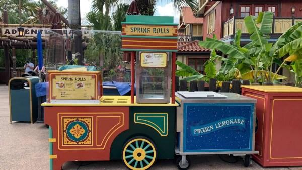 Magic Kingdom's Spring Roll Cart taking a break on weekdays 1
