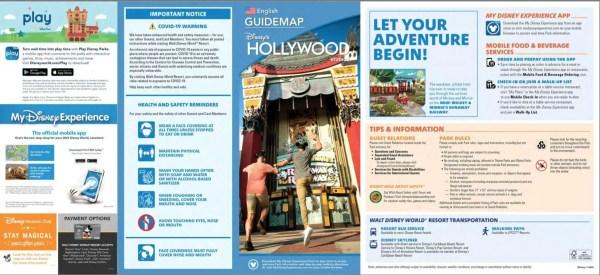 Disney's Hollywood Studios park map