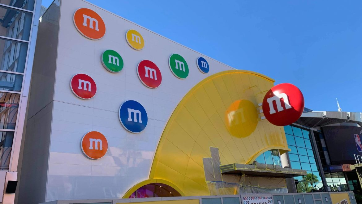 Signage is Now Complete at the M&M Store in Disney Springs